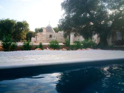 Photo for Trullo  Sunrise with salt water swimming pool