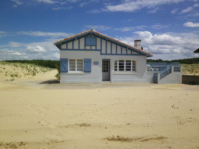 Photo for House on the sea sand beach of St Girons