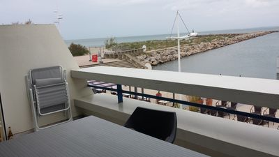 Photo for great view, comfortable apartment, Swimming pool, Direct beach access