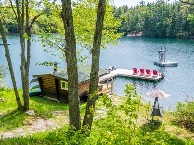 Photo for Family Getaway On Pristine Clear Lake Chain With An Exceptional Waterfront