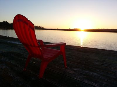 Go out on the dock and enjoy the sunset on the Coquille River