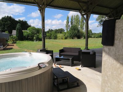 Photo for Pretty renovated house in the countryside with jacuzzi and free WI-FI access
