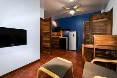 Free cable TV is provided to guests while they're relaxing after a busy day