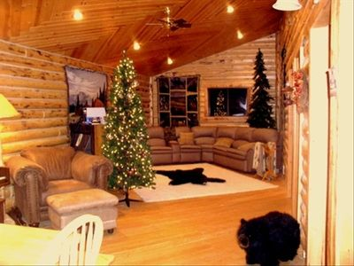 Photo for The Gathering Place Sleeps 31! Billiards, Hot Tub, Sled from cabin. $365 winter