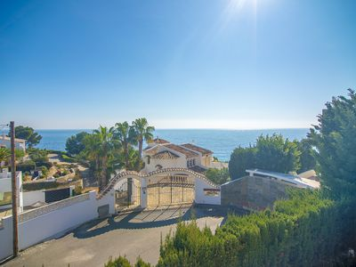 Photo for CALA PINETS, nice villa with sea view for 8, free wifi
