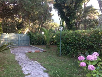Photo for VILLA WITH PRIVATE GARDEN IN THE PARK OF CIRCEO OVERLOOKING THE LAKE SABAUDIA
