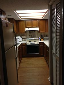 Galley kitchen, fully equiped