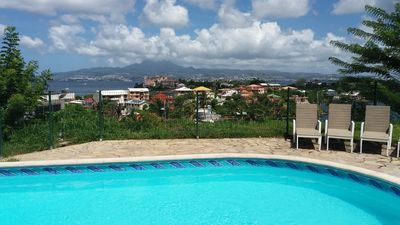 "Photo for Apt. T2 ""JY DEUX"" - View of the Caribbean Sea - Pool"