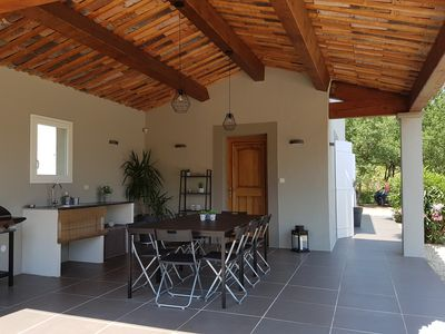 Photo for Tourtour Air-conditioned villa, 6/8 pers, not overlooked, private pool, Gorges Verdon