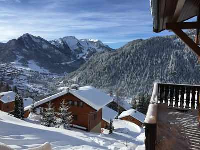 Photo for Morclan chalet south oriented panoramic view of Chatel