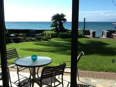 From inside the condo, showing the private lanai