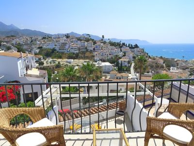 Photo for Holiday Townhouse to sleep 6 with A/C, spectacular views, WIFI, close to beach.