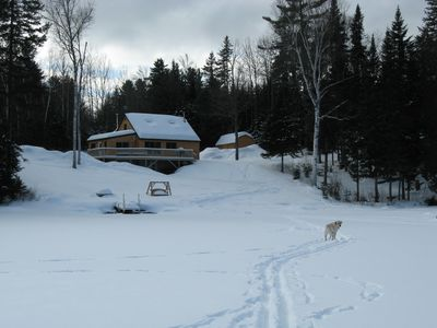 Photo for Secluded & quiet Akers Pond get away, fabulous mountain views.