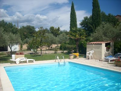 Photo for House at the foot of Ventoux 2 km from Bedoin among vineyard and olive trees