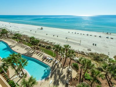 Photo for ☀BeachFRONT for 6☀Calypso 1-609 East-Beach SVC-BCHSide Pool! May 5 to 7 $727!