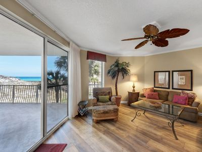Photo for Stunning pool and partial gulf views from a 3 bedroom condo!