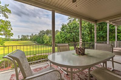 Take a breath of fresh air when you stay at this Hot Springs Village home!