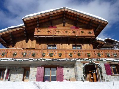 Photo for BEAUTIFUL CHALET 10 PEOPLE FACING THREE VALLEYS