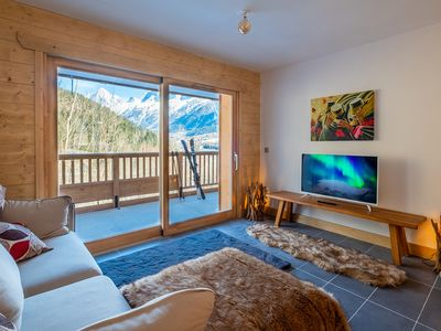 Photo for IRIS A3 Chalet Delys Stunning 2 Bedroom Les Houches Chamonix