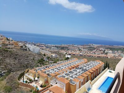 Breathtaking views from the terrace to the sea