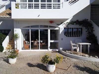 Photo for Large ground-floor apartment with communal pool, close to village & beach