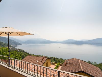 Photo for Panoramic house in a residence upon the green hills overlooking Lake Maggiore
