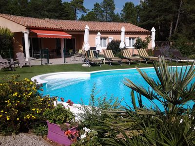Photo for GORGES DU VERDON 30 MIN, VILLA 3 CH. HEATED POOL, IDEAL FAMILY / FRIENDS