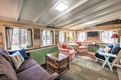 The 1-bedroom, 1-bathroom 'Stoney Cabin' offers everything you could need!