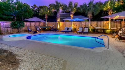 Photo for 30A Seagrove Beach Vacation Rental with PRIVATE POOL + Outdoor Kitchen + Bikes!