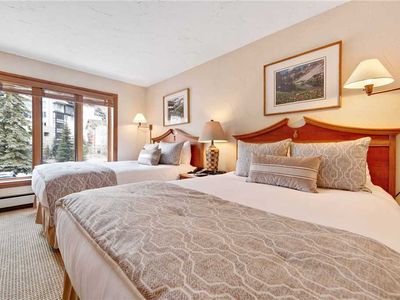 Photo for Lodge room steps from the ski lift – shared pool and hot tub!