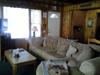 Photo for Cozy but roomy with large windows, newer carpet and great cabin decor.