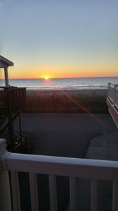 View of the ocean on 11/28. Love the sunrise from the lower front deck