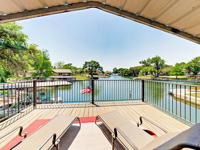 Photo for Lazy Cove - Lakefront on Lake LBJ w/ Private Dock & SUPs!