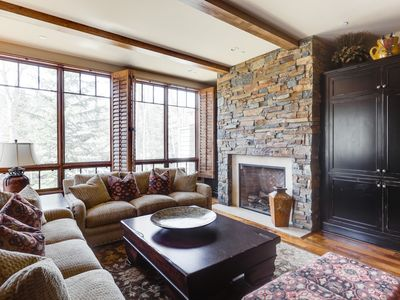 Photo for Creekside luxury condo in the heart of Ketchum with private deck and mountain views