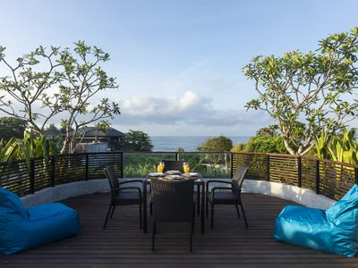Photo for Luxury villa with rooftop facing sea and rice field.