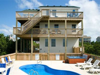 Photo for Bask in the HI life! Soundside Avon w/ Pool, Hot Tub, Game Room, Pet-Friendly!