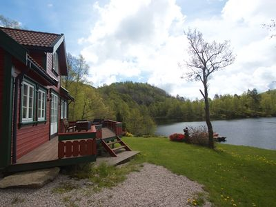 Photo for Holiday home in an undisturbed location with a view of the water for 8 people