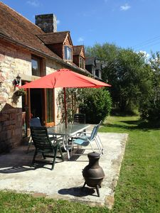Photo for Gite 4 bed sleeps 8 with woodburner in lovely countryside location