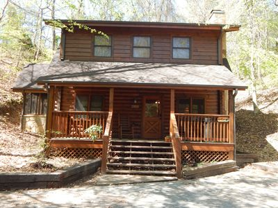 Photo for Secluded cabin only minutes from the Parkway!!!!