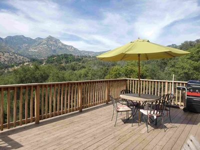 Luxury mountain view property - brand new outdoor deck with amazing view.