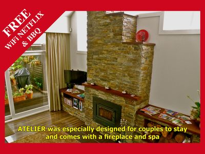 Photo for ATELIER - Stylish Holiday Accommodation with Spa & Fireplace