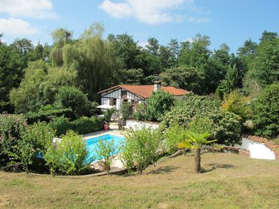 Photo for Landes nice house with pool on 2 ha near ocean