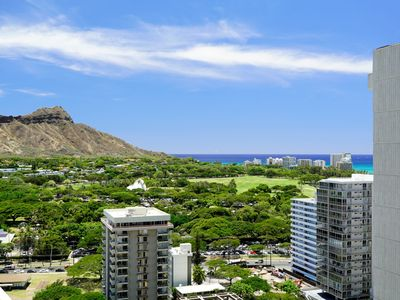 Diamond Head and Ocean View Waikiki Sunset with Free Parking! (WS06)
