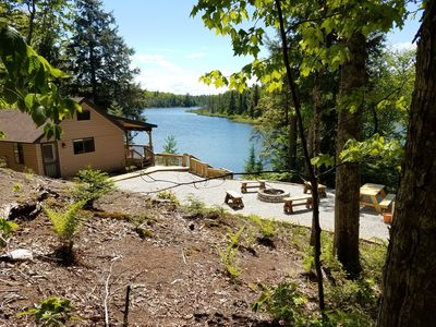 Photo for SECLUDED! LAKE FRONT! Just 14 miles to PICTURED ROCKS LAKESHORE, Covered Deck