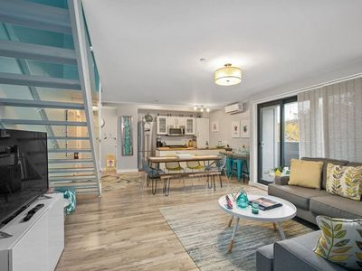 Photo for Contemporary downtown condo with rooftop deck & private parking!