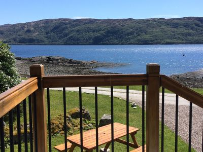 Photo for Lodge on the shore - Superb Wildlife Cottage on Loch Sunart  Ardnamurchan Coast