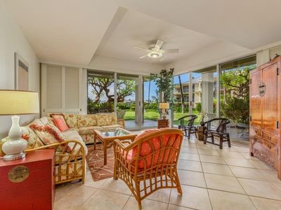 Photo for VISTA WAIKOLOA #E105 - Ground floor, Upgraded 2 Bedroom 2 Bath, Saline Pool!!