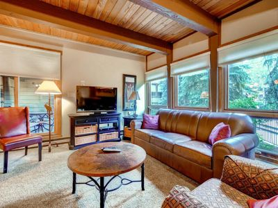 Photo for Fantastic family condo w/ shared pool & hot tubs - walk to the lifts & trails