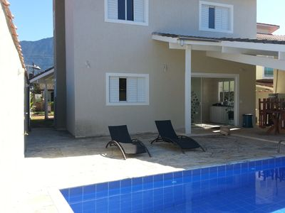 Photo for New house with pool in caraguatatuba in cond. closed