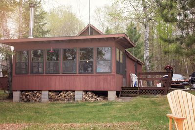 Main Cabin with deck and grilling patio